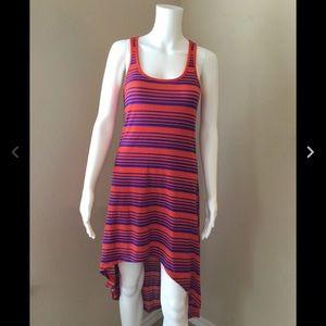 Chesley Hi-Low Racerback Striped Dress Size Medium